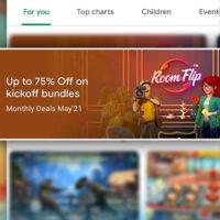 Room Flip on multiple Google Play Store featurings